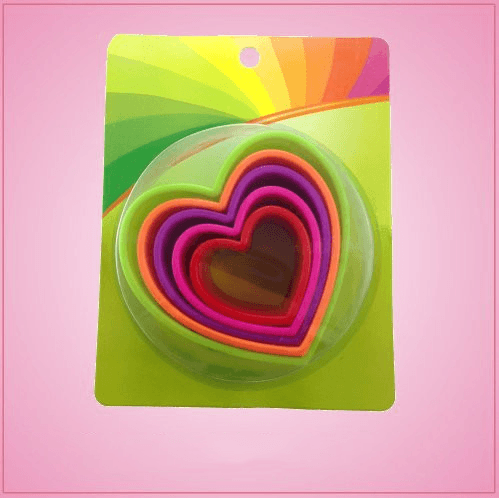 Colorful Heart Cookie Cutter Set