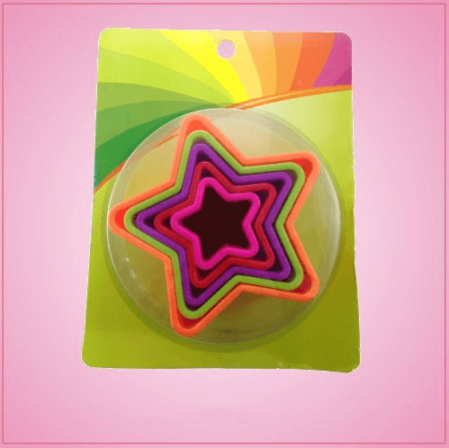 Colorful Star Cookie Cutter Set