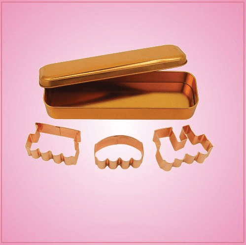 Copper Train Cookie Cutter Set