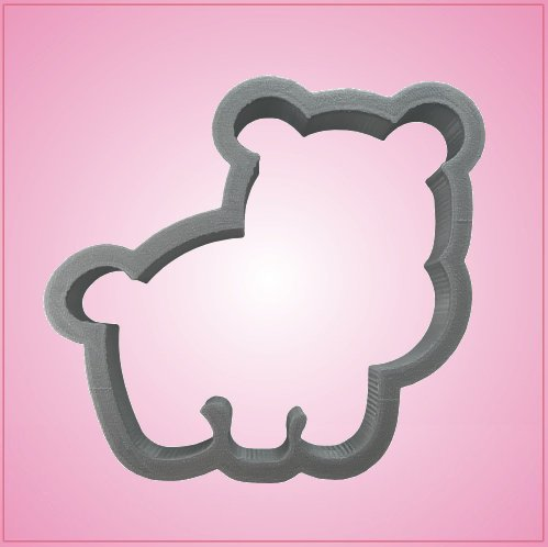 Cute Hippo Cookie Cutter