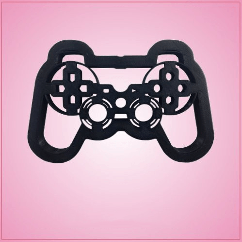 Detailed Black Video Game Controller Cookie Cutter