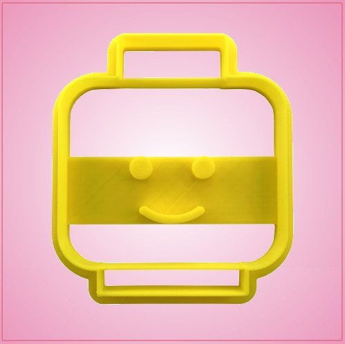 Detailed Toy Block Head Cookie Cutter