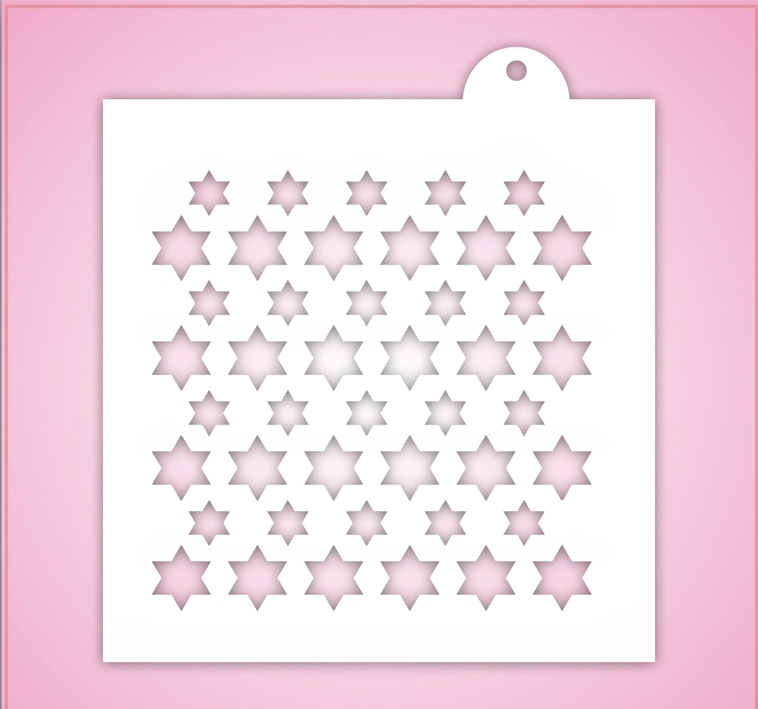 Double Stars Of David Pattern Stencil