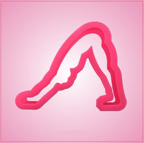 Downward Facing Dog Yoga Pose Cookie Cutter