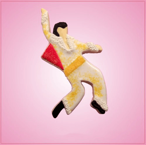 Frosted Elvis Presley Cookie