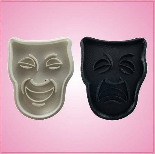 Embossed Drama Mask Cookie Cutter Set