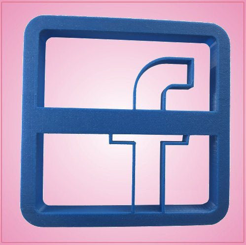 Embossed Facebook Cookie Cutter