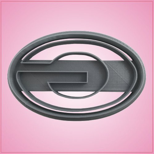 Embossed Oval Letter G Cookie Cutter