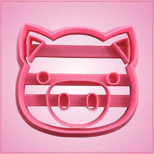 Embossed Pig Face Cookie Cutter
