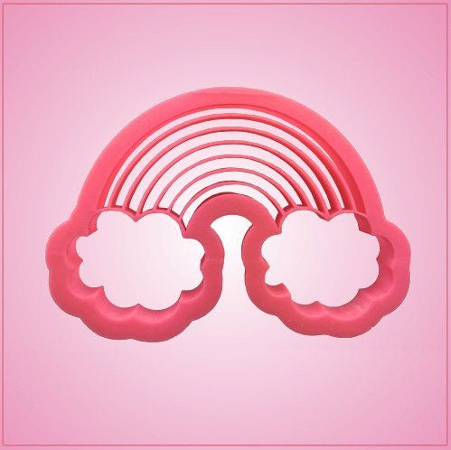 Embossed Rainbow With Clouds Cookie Cutter