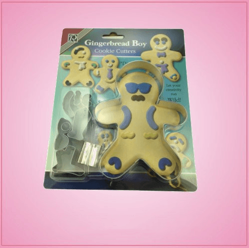 Gingerbread Boy Cookie Cutter Dress Up Set