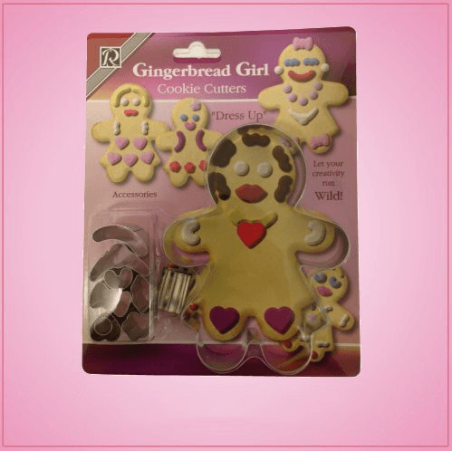 Gingerbread Girl Cookie Cutter Dress Up Set