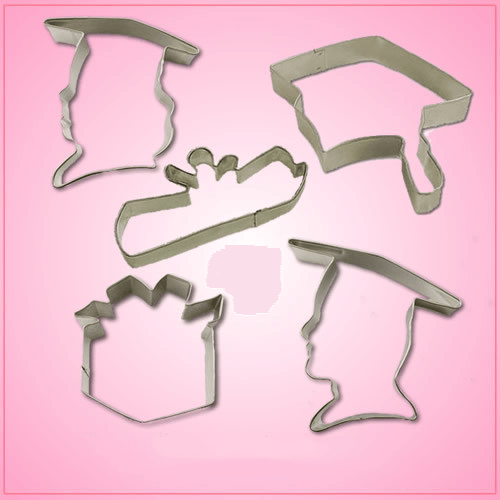 Graduation Cookie Cutter Set