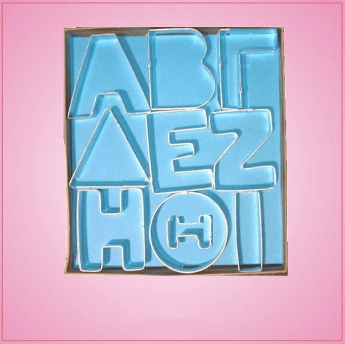 Greek letter cookie cutter set cheap cookie cutters for Cheap greek letters