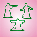 Green Army Men Cookie Cutter Set