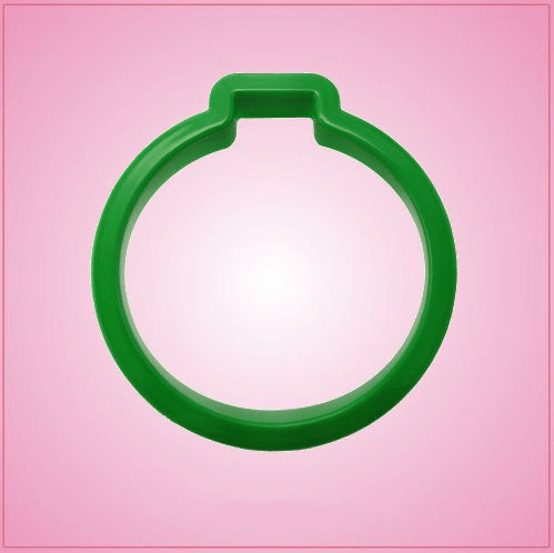 Green Christmas Ornament Cookie Cutter