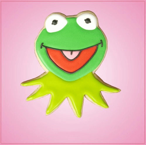 Green Frog Puppet Cookie Cutter