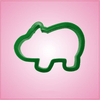 Green Hippo Cookie Cutter