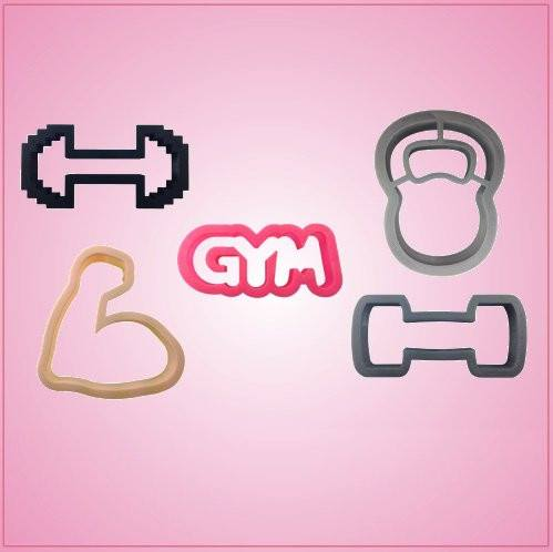 Gym Cookie Cutter Set