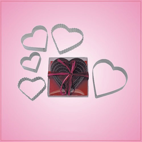 Heart 5 Piece Cookie Cutter Set