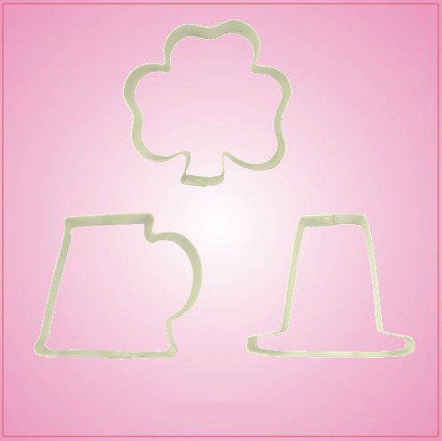 Large St Patricks Day Cookie Cutter Set