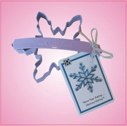 Lavender Snowflake Cookie Cutter With Handle