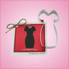 Little Black Dress Cookie Cutter with Recipe Card