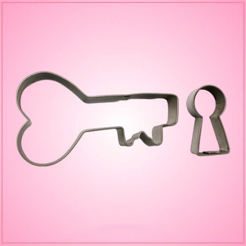 Lock and Key Cookie Cutter Set