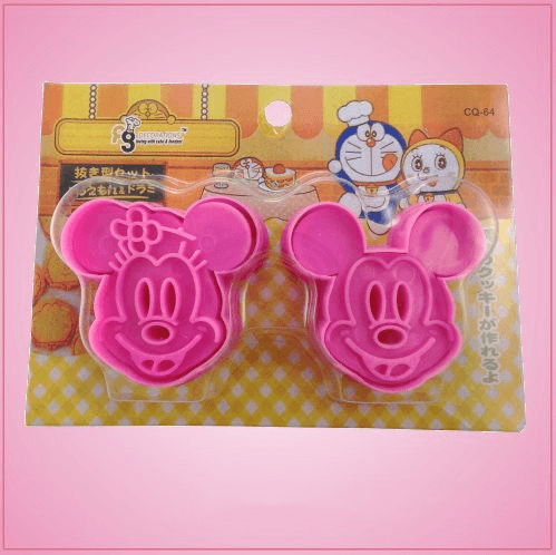 Mickey and Minnie Mouse Cookie Cutter Set