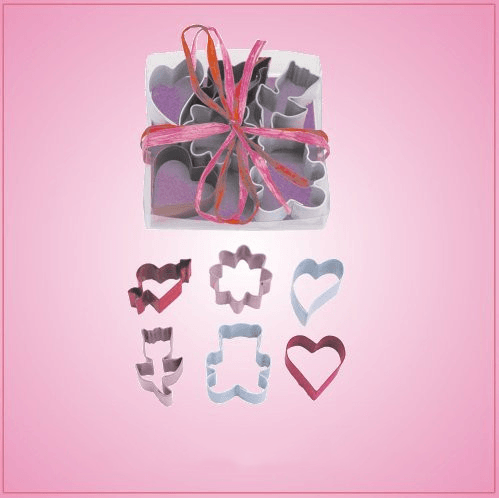 Mini Valentines Day Cookie Cutter Set