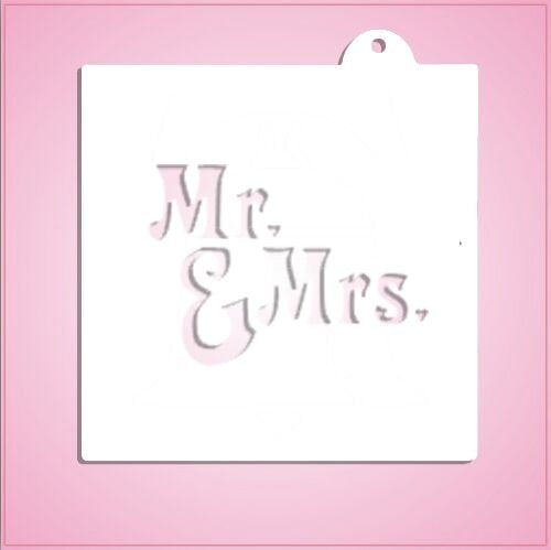 Mr. & Mrs. Hearts Stencil