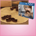 Munchstache Cookie Cutters