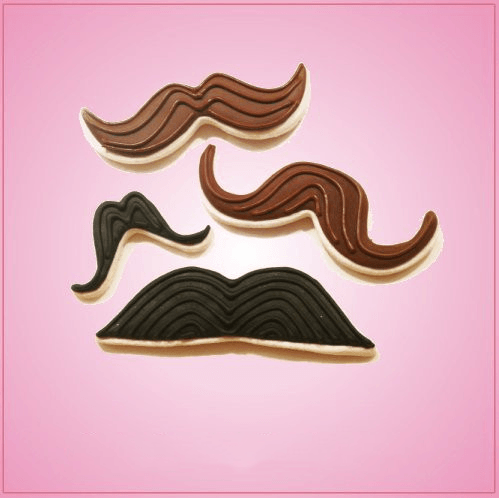 Frosted Mustache Cookies Cheap Cookie Cutters