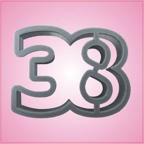 Number 38 Cookie Cutter