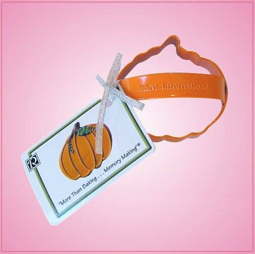 Orange Pumpkin Cookie Cutter With Handle