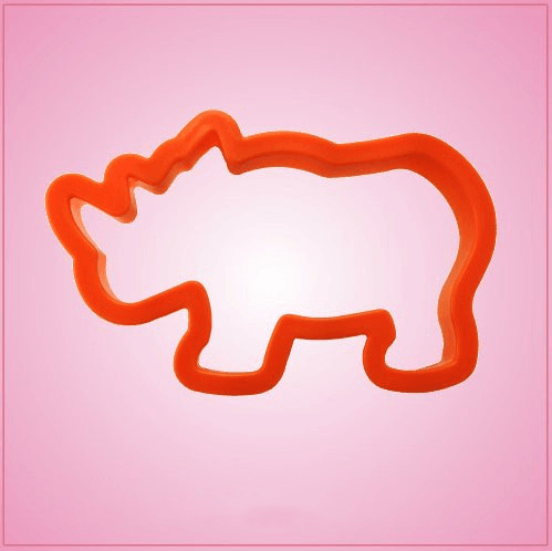 Orange Rhino Cookie Cutter