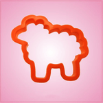 Orange Sheep Cookie Cutter