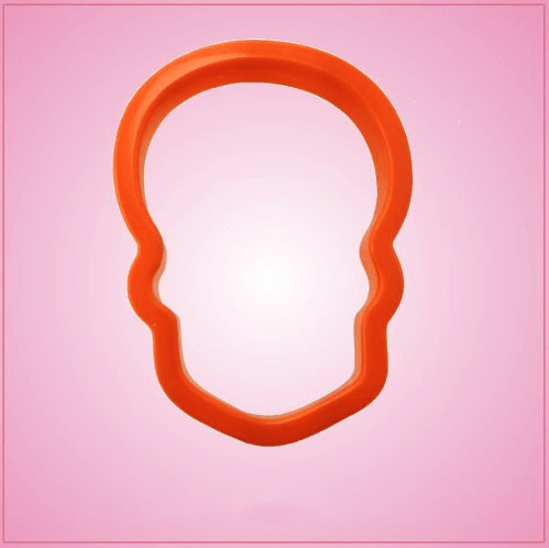 Orange Skull Cookie Cutter