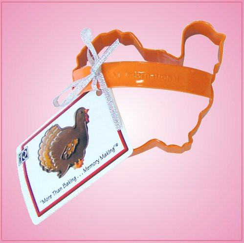 Orange Turkey Cookie Cutter With Handle