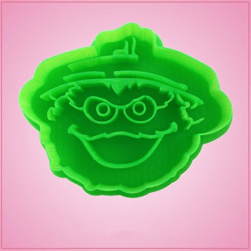 Oscar the Grouch Plastic Cookie Cutter