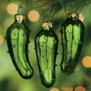 Pickle Christmas Ornament.Christmas Pickle Ornament