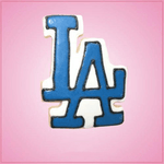 Pink LA Dodgers Cookie Cutter
