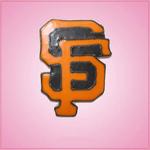 Pink SF Giants Cookie Cutter