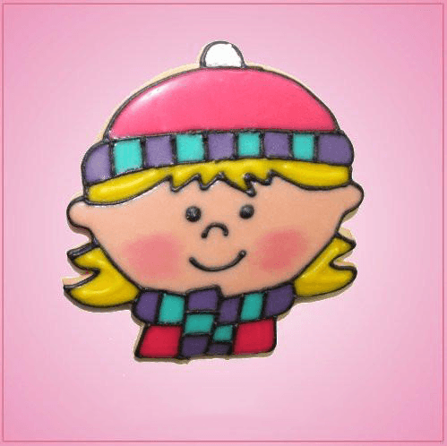 Pink Alexa Winter Girl Cookie Cutter