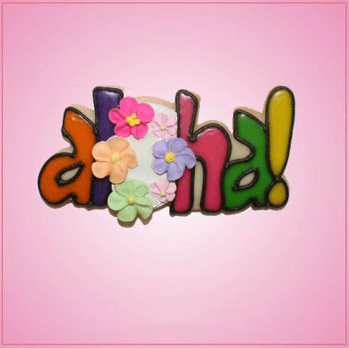 Pink Aloha Word Cookie Cutter
