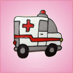 Pink Ambulance Cookie Cutter