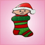 Pink Baby Stocking Cookie Cutter