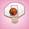 Pink Basketball Hoop Cookie Cutter