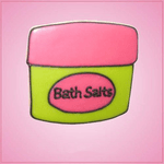 Pink Bath Salts Jar Cookie Cutter