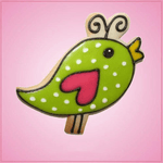 Pink Becky Bird With Antennae Cookie Cutter